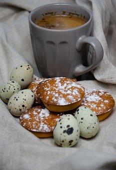 Quail Eggs, Muffins, Cup, Drink, Eggs, Greeting Card