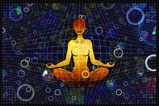 Woman, Meditation, Grid, Circles, Reflection, Person