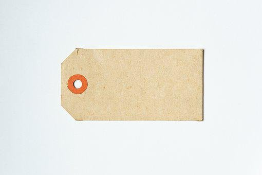 Label, Tag, Paper, Gift Tag, Brown Tag