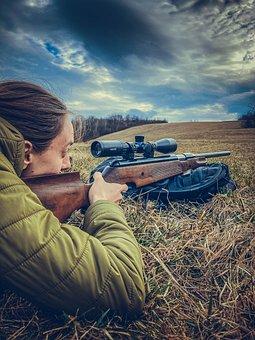 Air Gun, Hunting, Man, Air Rifle, Hunter, Forest