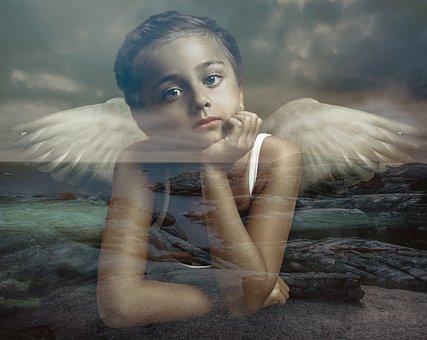 Girl, Wing, Female, Angel, Gothic, Fantasy, Composing