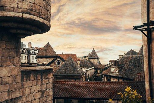 Buildings, Village, Ba Na Hills, Roofs, Old Buildings