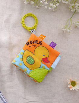 Book, Toy, Baby Book, Cloth, Duckling, Decoration