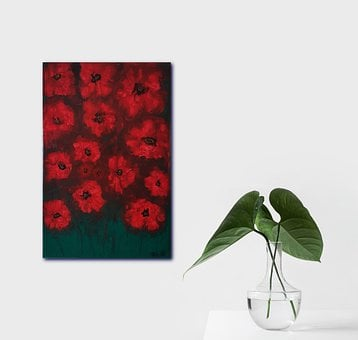 Stocksnap, Painting, Decorative, Flowers, Poppies