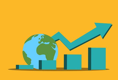 World, Growth, Statistics, Chart, Global, Earth, Planet