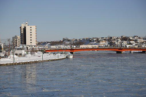 River, Winter, Kushiro, Landscape, Natural, Snow