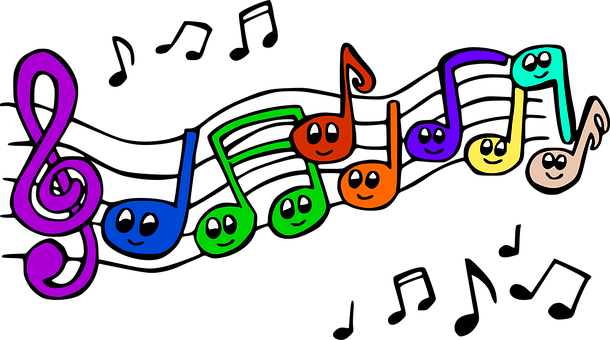 Musical Notes, Music, Smile, Merry, Notes, Treble Clef