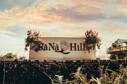 Ba Na Hills, Sign, Wall, Park, Theme Park