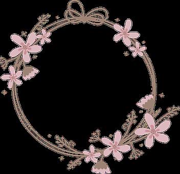Frame, Round, Flowers, Border, Circle, Ornamental