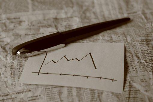 Pen, Graph, Share, Newspaper, Calculation, Evaluation