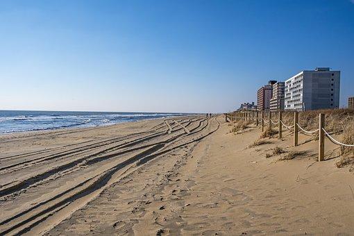 Beach, Buildings, Sea, Shore, Seashore, Sand