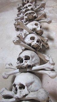 Skull, Bones, Skeleton, Death, Horror, Tattoo, Creepy