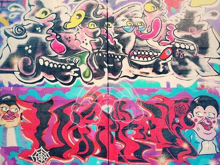 Graffiti, Wall, Urban, Street, Wall Painting, Art, City