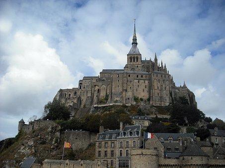 Mont Saint-michel, Monastery, Landmark, Historic