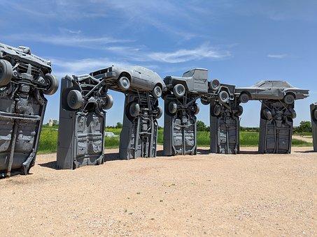 Carhenge, Sculpture, Cars, Auto, Automobiles, Monument