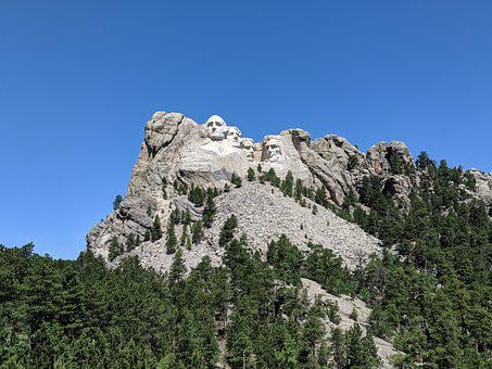 Mount Rushmore, Sculpture, Mountain, Monument, Trees