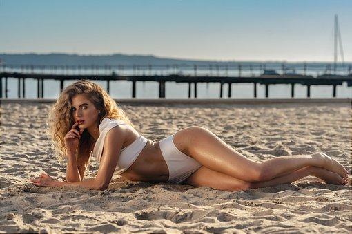 Model, Swimwear, Beach, Sand, Woman, Girl, Sexy