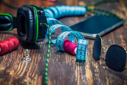 Tape Measure, Headphones, Glasses, Measuring Tape