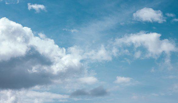 Clouds, Blue, Music, Color, Sky, Day, Background