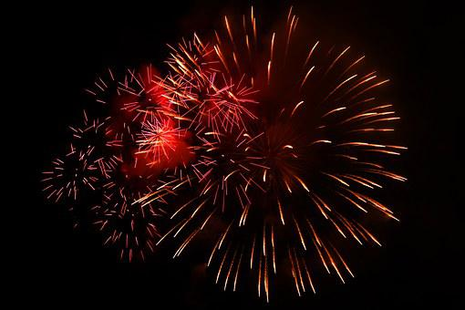 Fireworks, Celebrate, New Year's Eve, Shower Of Sparks