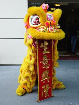 Lion Dance, Chinese, Tradition, New Year, Luck, Dancing
