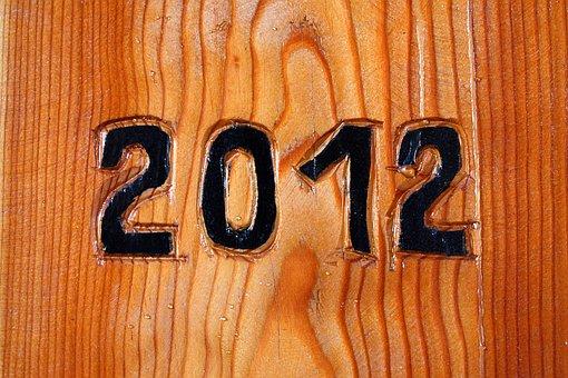 Background, Date, Twenty, Twelve, New, Year, Number