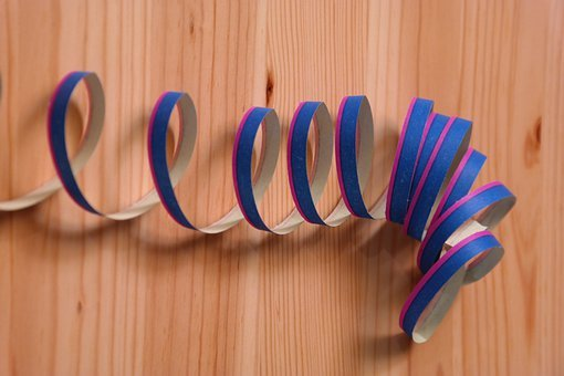 Streamer, Decoration, Colorful, Paper Snakes, Ringed
