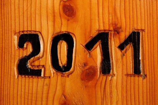 Background, Date, Twenty, Eleven, New, Year, Number