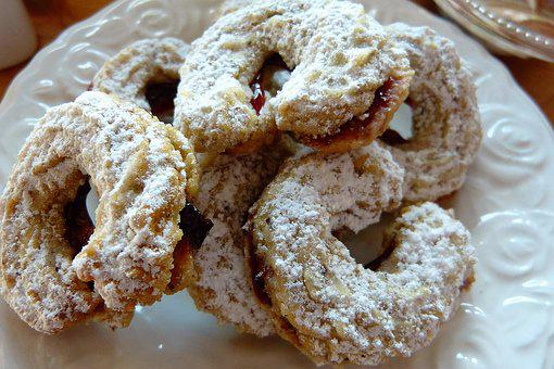 Cookie, Christmas, Filled, Jam, Bake, Icing Sugar