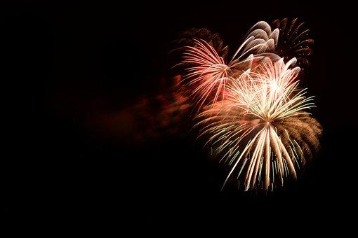 Bengali Fire, Fireworks, Fire, Colorful, Black, Dark