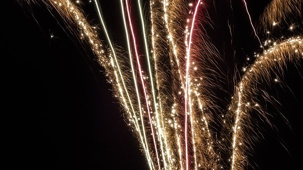 Night, Sylvester, At Night, City At Night, Fireworks