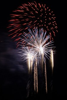 Fireworks, Sky, New Year's Eve, Light, Rocket