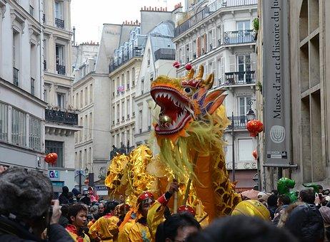 Paris, France, Chinese New Year, People, Celebration