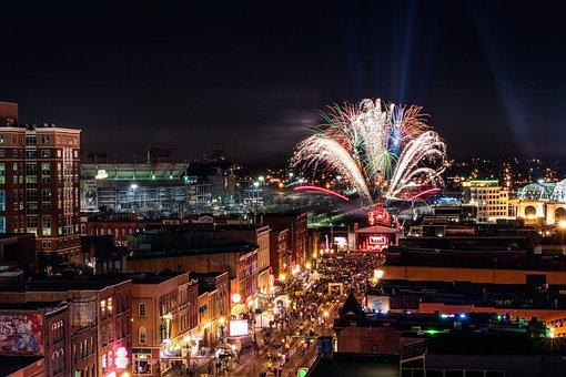 Nashville, Fireworks, New Year's Eve, Holiday
