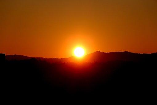 Sunrise, Sky, Solar, Landscape, Mountain, Morning