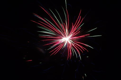 Fireworks, Nights, Lights, Darkness, Illuminated
