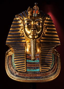 Tutankhamun, Death Mask, Golden, Mask, Gold Head