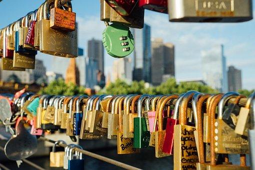 Melbourne, Lock, Bridge, Skyline, Aussie, Australia