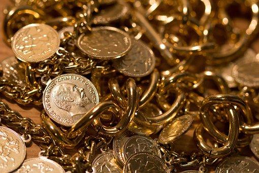 Gold, Treasure, Rich, Golden, Money, Coin, Metal
