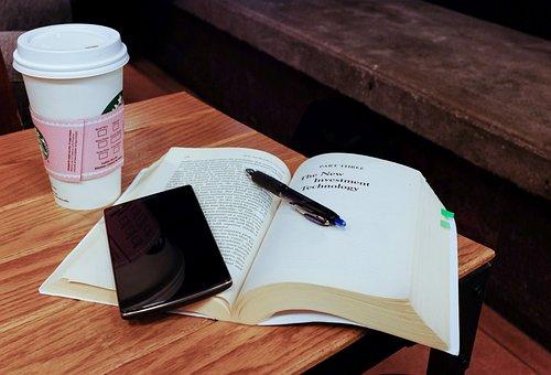 Smartphone, Mobile, Technology, Book, Reading, Pen