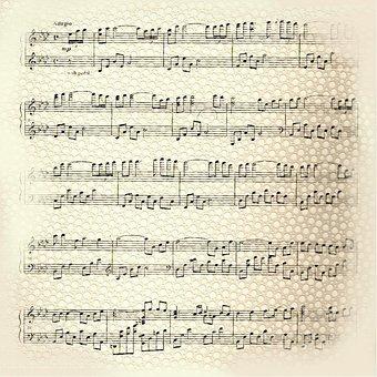 Music, Paper, Background, Design, Musical, Symbol, Note