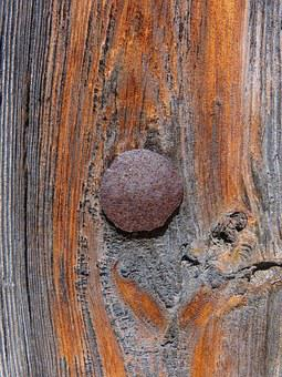 Door, Nail, Texture, Old Wood