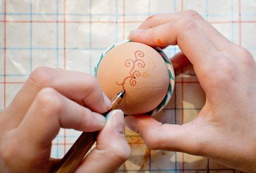 Easter Egg, Paint, Pen, Draw, Finger, Pattern, Egg