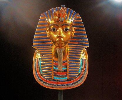 Replica Of King Tutankhamun's Mask, Display, Riches