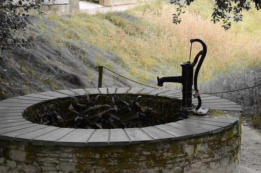 Pump, Fountain, Rude, Hand Pump, Water, Garden Pump