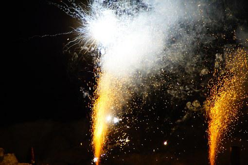Shower Of Sparks, Radio, Spray, Night, Fireworks