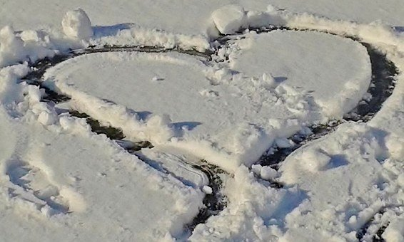 Snow, Snow Heart, Heart, Winter, Love, Frozen, Cold