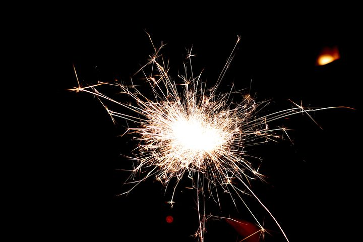 Stelline, New Year's Eve, Fire, Spark, Lights