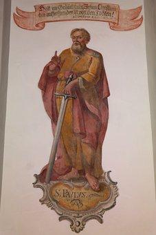 St Paul, Portrait, Painting, Person, Man, Human