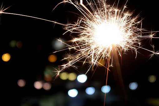New Year's Eve, Sparks, Stellina, Christmas, Fire